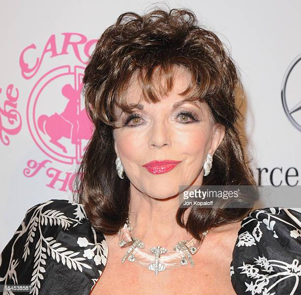 Actress Joan Collins arrives at the 26th Anniversary Carousel Of Hope Ball at The Beverly Hilton Hotel on October 20, 2012 in Beverly Hills,...