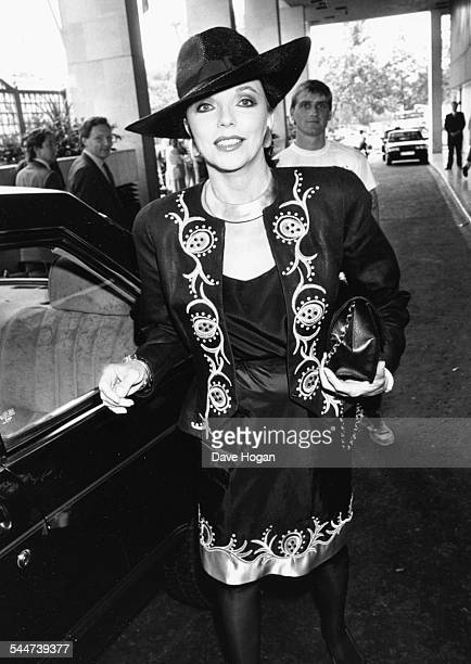 Actress Joan Collins arriving at a charity luncheon London June 24th 1988