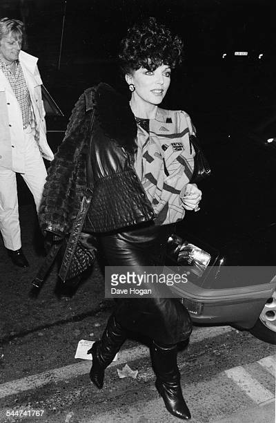 Actress Joan Collins arriving at Mr Chow's Restaurant in Hollywood CA circa 1985
