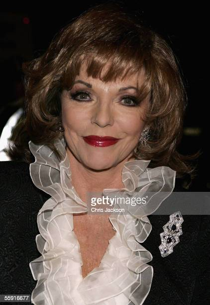 Actress Joan Collins attends the 80th birthday party for former British Prime Minister Margaret Thatcher at the Mandarin Oriental on October 13 2005...