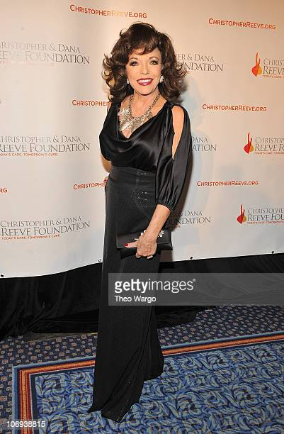 Actress Joan Collins attends the Christopher Dana Reeve Foundation's A Magical Evening 20th Anniversary Gala at The New York Marriott Marquis on...