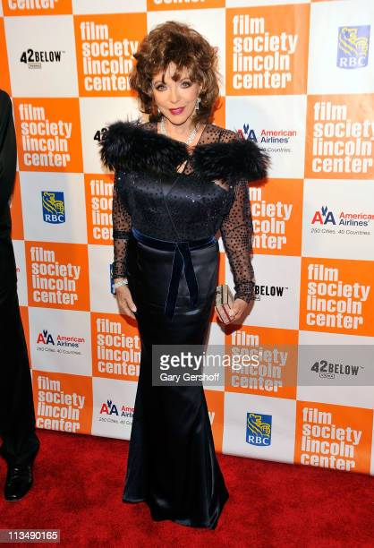 Actress Joan Collins attends The Film Society of Lincoln Center's presentation of the 38th Annual Chaplin Award at Alice Tully Hall on May 2 2011 in...