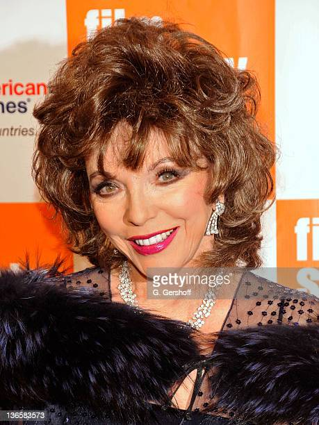 Actress Joan Collins attends The Film Society of Lincoln Center's presentation of the 38th Annual Chaplin Award at Alice Tully Hall on May 2, 2011 in...