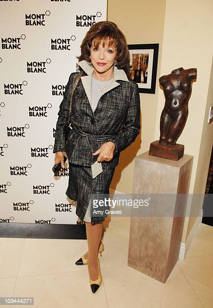 Actress Joan Collins attends the Montblanc Celebration Brunch for Inheriting Beauty and the Montblanc Jewelry Collection hosted by Casey Johnson and...
