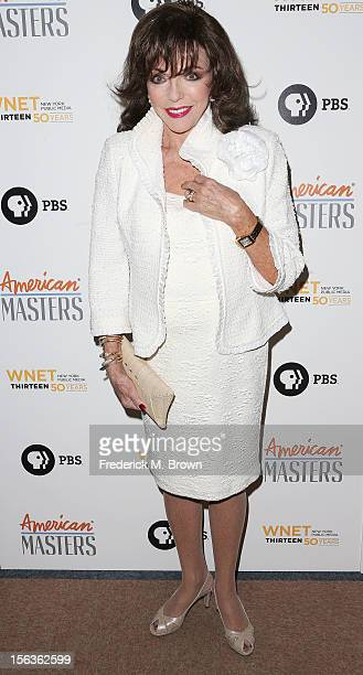 Actress Joan Collins attends the Premiere Of 'American Masters Inventing David Geffen' at The Writers Guild of America on November 13 2012 in Beverly...