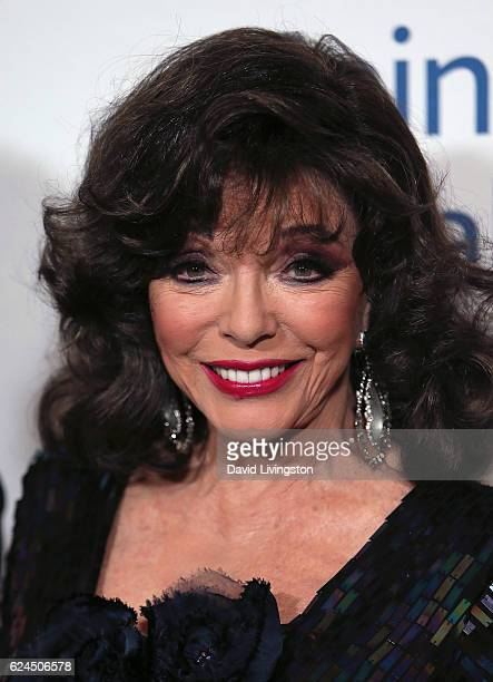 Actress Joan Collins attends the Talk of the Town Gala 2016 at The Beverly Hilton Hotel on November 19 2016 in Beverly Hills California