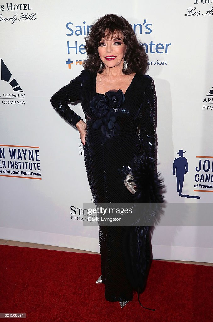 Actress Joan Collins attends the Talk of the Town Gala 2016 at The Beverly Hilton Hotel on November 19, 2016 in Beverly Hills, California.