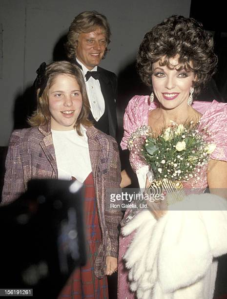 Actress Joan Collins boyfriend Peter Holm and her daughter Katyana Kass attend the 11th Annual People's Choice Awards After Party on March 14 1985 at...