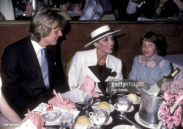 Actress Joan Collins boyfriend Peter Holm and her daughter Katyana Kass attend the Young Musicians Foundation's Third Annual Celebrity...