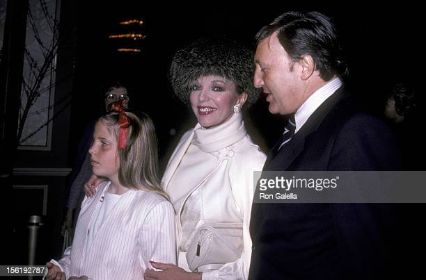 Actress Joan Collins husband Ronald S Kass and daughter Katyana Kass attend the Young Musicians Foundation's Second Annual Celebrity Mother/Daughter...