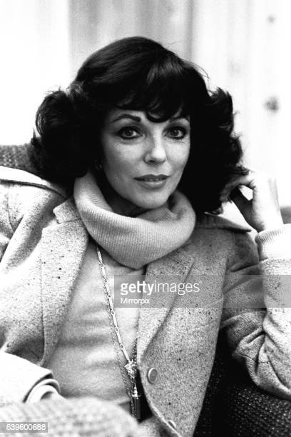 Actress Joan Collins in Newcastle on 27th February 1980 to promote her latest film release 'Sunburn'