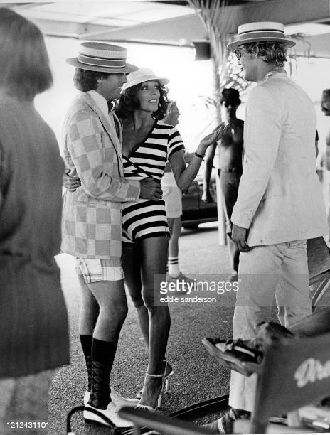 Actress Joan Collins outglamorized thirty five glamor girls from the Playboy Agency when she appeared with Paul Michael Glaser and David Soul on...