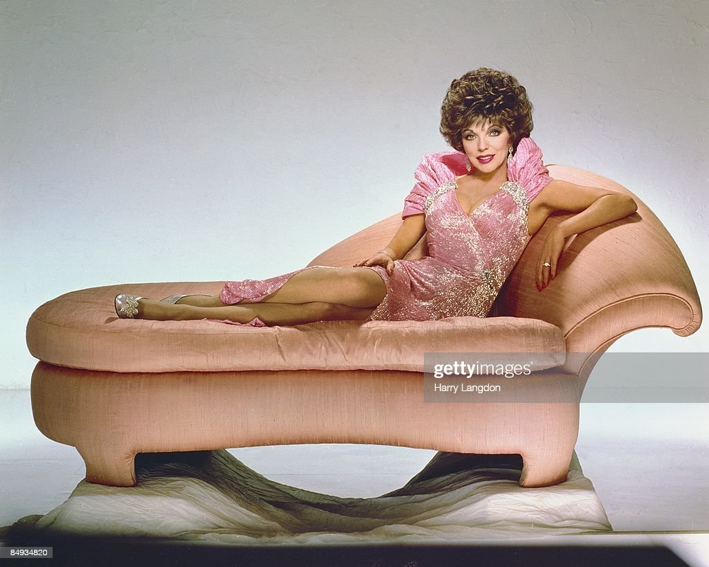 Actress Joan Collins poses for a portrait circa 1990 in Los Angeles, California.