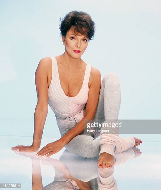 Actress Joan Collins poses for a portrait in 1987 in Los Angeles California