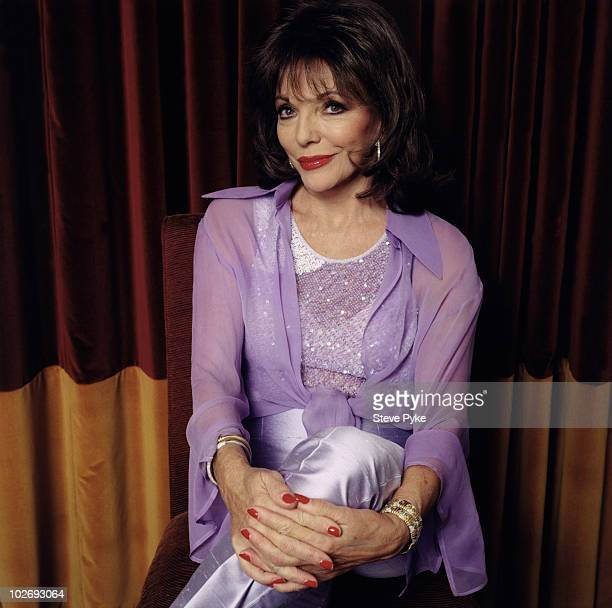 Actress Joan Collins poses for a portrait shoot in London UK