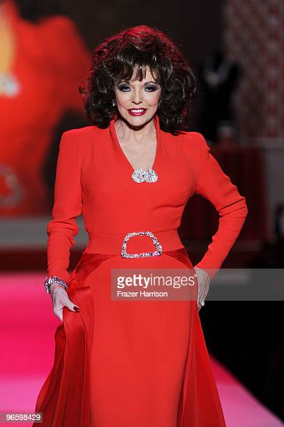 Actress Joan Collins walks the runway at the Heart Truth Fall 2010 Fashion Show during MercedesBenz Fashion Week at The Tent at Bryant Park on...