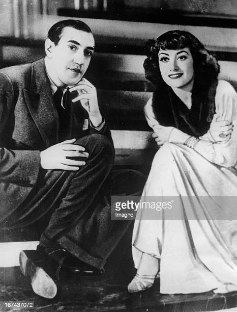 Actress Joan Crawford and cellist Gregor Piatigorsky About 1930 Photograph Schauspielerin Joan Crawford und Cellist Gregor Piatigorsky Um 1930...