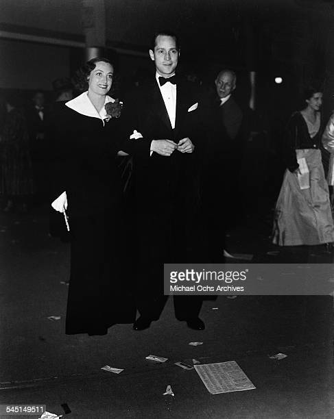 Actress Joan Crawford and husband Franchot Tone attend an event in Los Angeles California