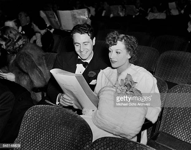 Actress Joan Crawford and husband Phillip Terry attend an event in Los Angeles California