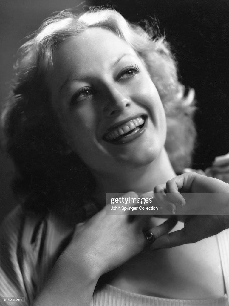 Actress Joan Crawford Laughing