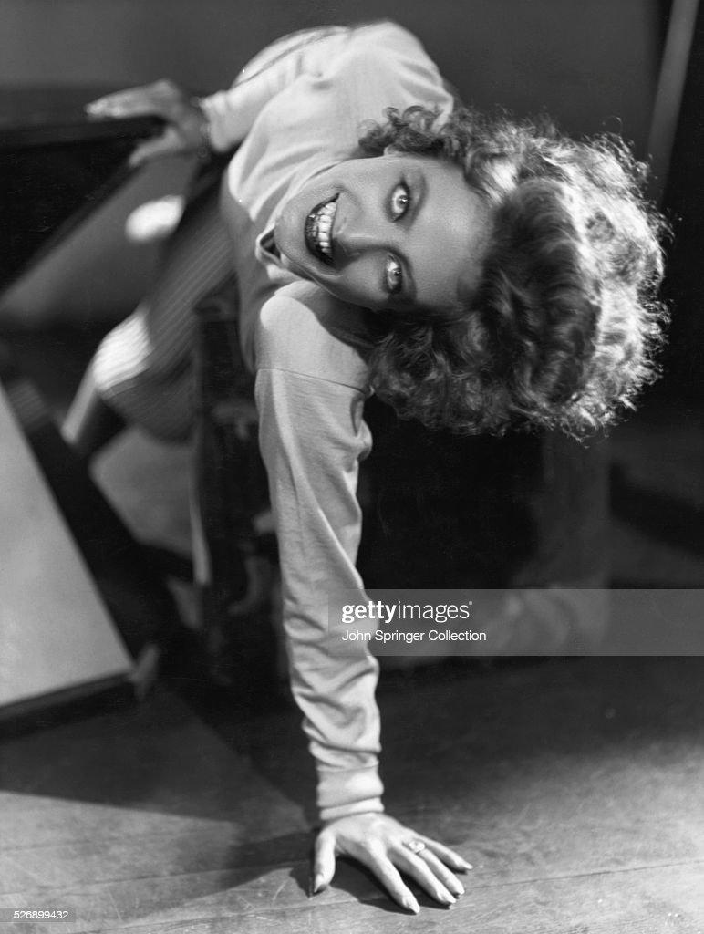 Actress Joan Crawford Leaning Sideways