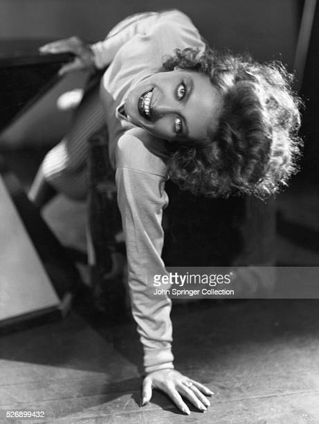 Actress Joan Crawford Leaning Sideways