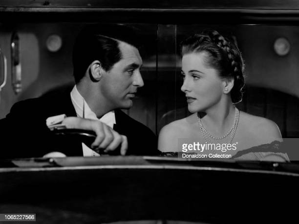Actress Joan Fontaine and Cary Grant in a scene from the movie Suspicion