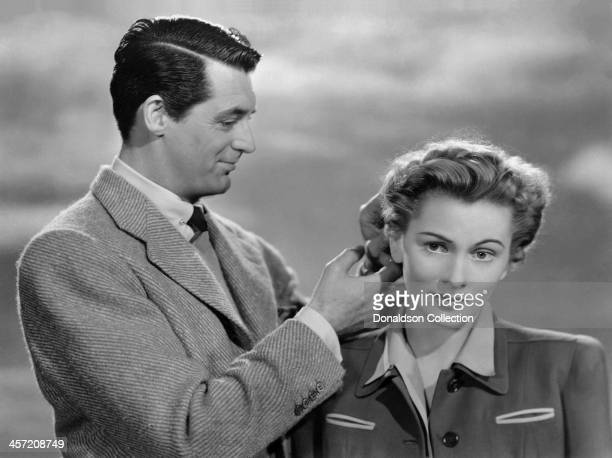 Actress Joan Fontaine and Cary Grant pose for a portrait for the movie 'Suspicion' released in 1941