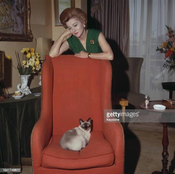 Actress Joan Fontaine in London UK circa 1965