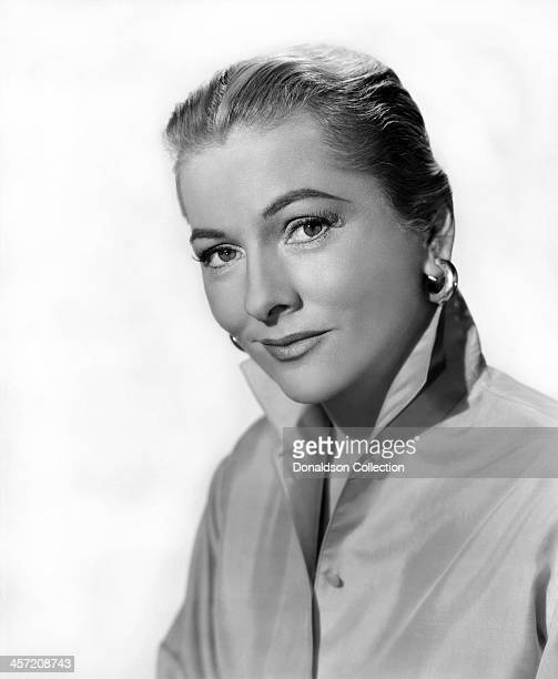 Actress Joan Fontaine poses for a portrait circa 1950