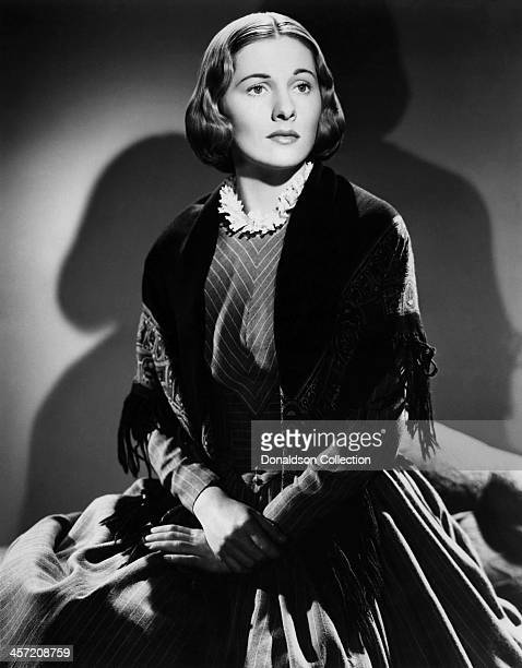 Actress Joan Fontaine poses for a portrait for the movie 'Jane Eyre' released in 1943