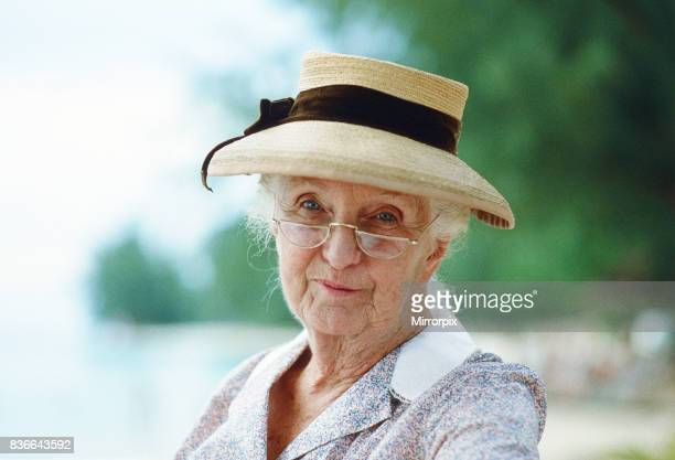 Actress Joan Hickson pictured during the filming of the BBC adaptation of the Agatha Christie crime novel A Caribbean Mystery Joan Hickson plays...