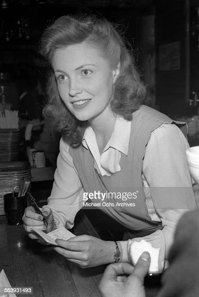 Actress Joan Leslie attends an event in Los Angeles California