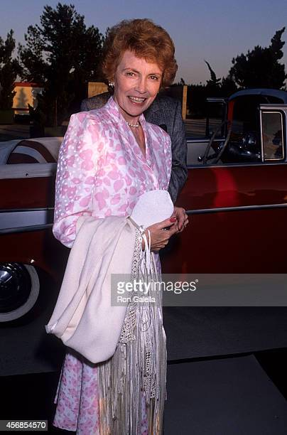Actress Joan Leslie attends NBC Television Affiliates Party on July 15 1989 at Century Plaza Hotel in Century City California