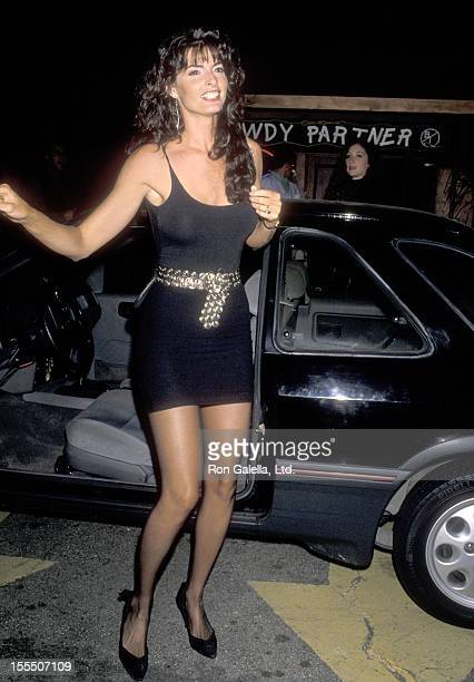 Actress Joan Severance attends Bernie Taupin's 40th Birthday Party on May 26 1990 at Roxbury Nightclub in West Hollywood California