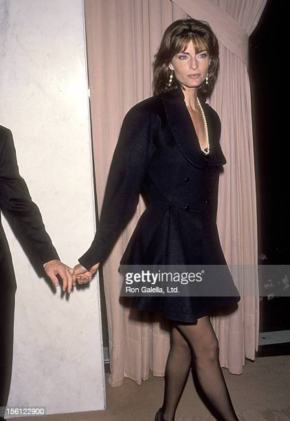 Actress Joan Severance attends Clive Davis' Annual PreGrammy Awards Party on February 23 1993 at Beverly Wilshire Hotel in Beverly Hills California