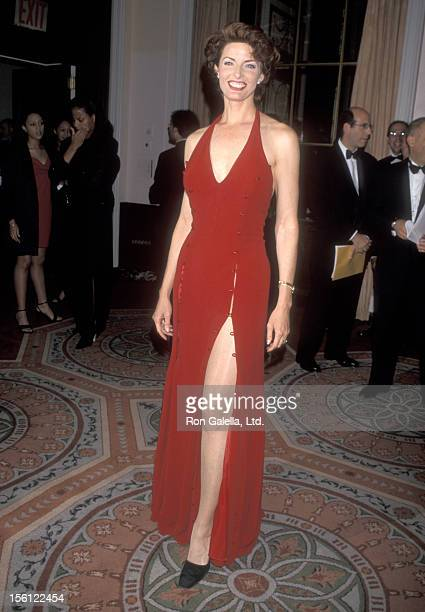 Actress Joan Severance attends The IRTS Foundation Gold Medal Award Dinner Honoring Sumner Redstone on June 16 1998 at WaldorfAstoria Hotel in New...