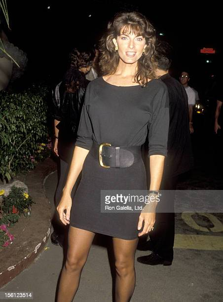 Actress Joan Severance attends the Party in Honor of Arnold Schwarzenegger on July 11 1990 at Roxbury Nightclub in West Hollywood California