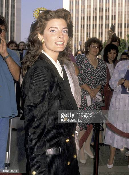 Actress Joan Severance attends the 'See No Evil Hear No Evil' Century City Premiere on May 7 1989 at Cineplex Odeon Century Plaza Cinemas in Century...