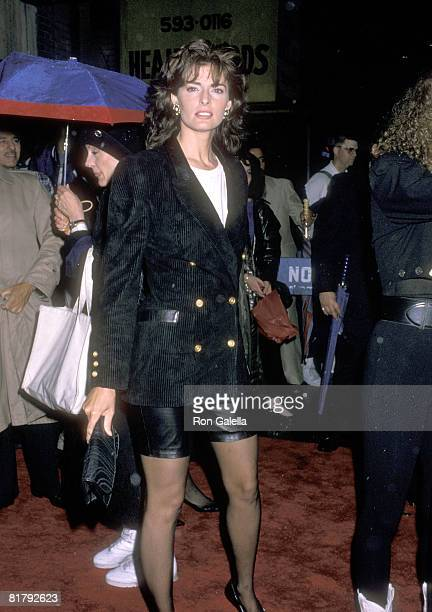 Actress Joan Severance attends the See No Evil Hear No Evil New York City Premiere on May 10 1989 at Gemini Theater in New York City New York