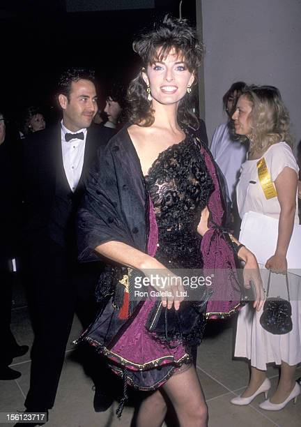 Actress Joan Severance attends the Seventh Annual American Cinema Awards on January 27 1990 at Beverly Hilton Hotel in Beverly Hills California