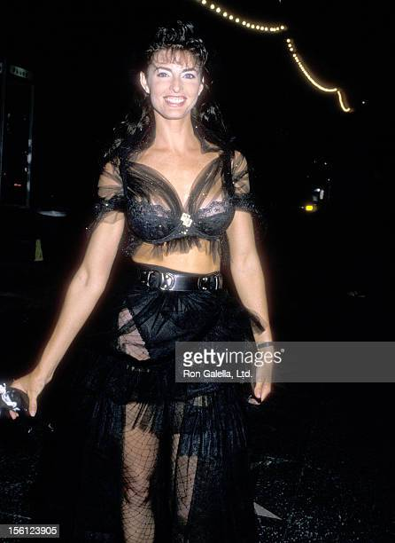 Actress Joan Severance on August 23 1988 dining at the St James Club in West Hollywood California