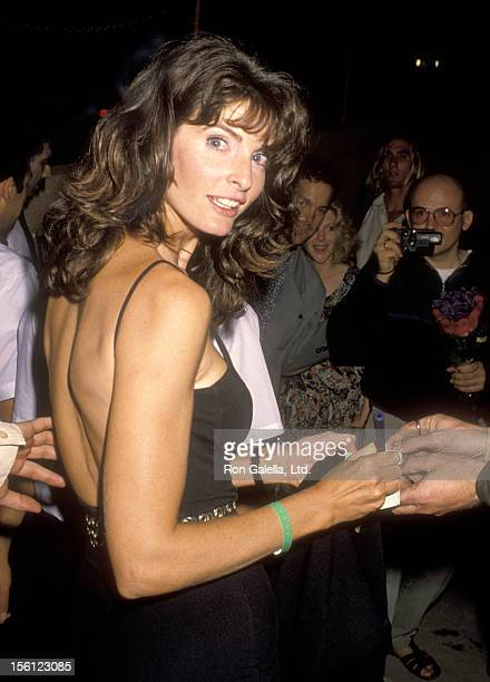 Actress Joan Severance on July 8 1990 partying at the Roxbury Nightclub in West Hollywood California