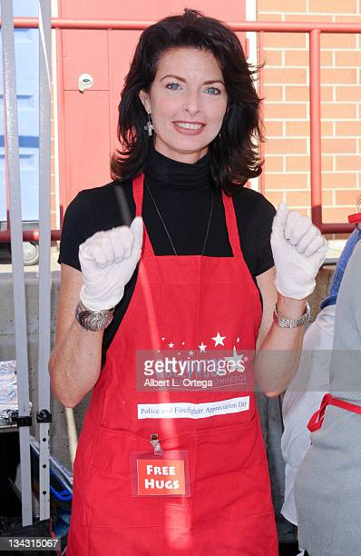 Actress Joan Severance participates at the Hollywood Chamber Of Commerce 17th Annual Police And Fire Appreciation Day held at the Hollywood fire...