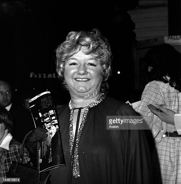 Actress Joan Sims photographed in May 1978