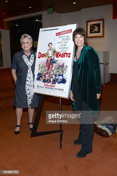 Actress Joan Staley and Karen Knotts attend The Academy Of Motion Picture Arts And Sciences' Screening Of 'Abbott and Costello Meet Frankenstein'...