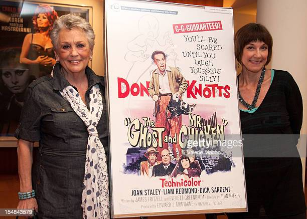 Actress Joan Staley and Karen Knotts attends The Academy Of Motion Picture Arts And Sciences' Screening Of Abbott and Costello Meet Frankenstein The...