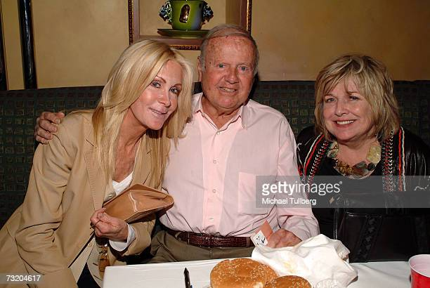 Actress Joan Van Ark actor Dick Van Patten and wife Patti attend the Super Bowl Bash at Spago at Wolfgang Puck's Spago restaurant February 4 2007 in...