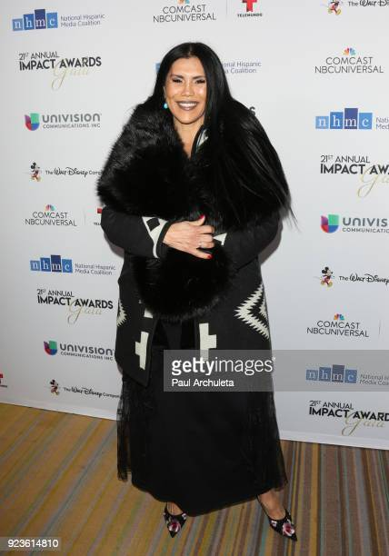 Actress Joanelle Romero attends the National Hispanic Media Coalition's 21st annual Impact Awards at the Beverly Wilshire Four Seasons Hotel on...
