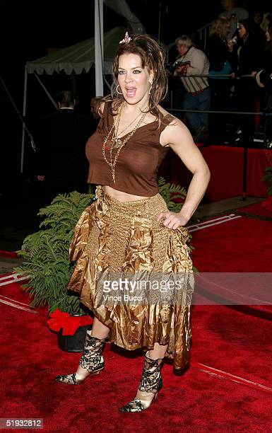 "Actress Joanie ""Chyna"" Laurer arrives at the 31st Annual People's Choice Awards in the Pasadena Civic Auditorium on January 9, 2005 in Pasadena,..."
